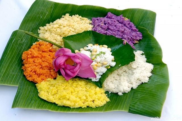 Hình 1 – Xôi nếp bảy màu là món ăn truyền thống của người dân tộc Nùng