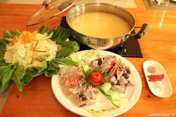 Hình 8 – Lẩu cá tầm là món ăn rất giàu dinh dưỡng
