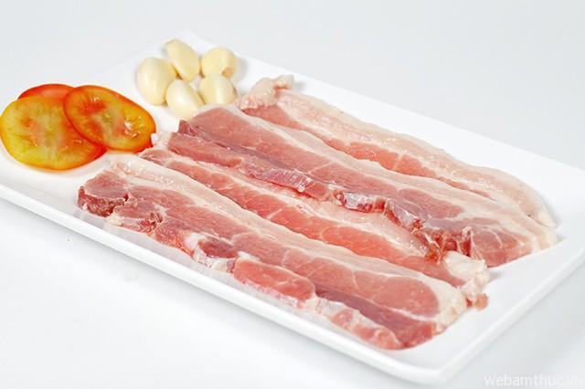 Hình 2 – Thịt ba chỉ loại ngon