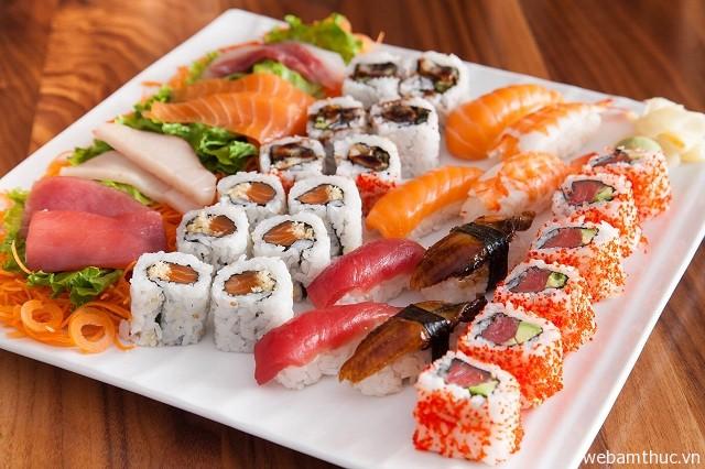Sushi có hương vị thơm ngon thu hút nhiều thực khách tìm đến thưởng thức